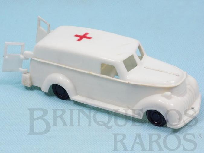 Brinquedo antigo Ambulância com porta de abrir 16,00 cm de comprimento Década de 1960
