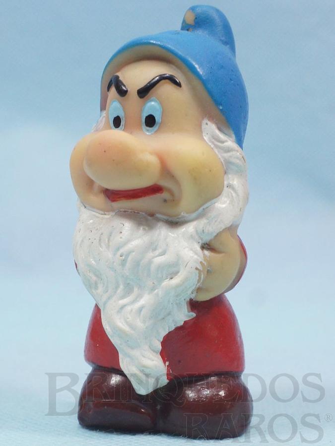 Brinquedo antigo Boneco Zangado com 9,00 cm de altura apontador de lápis da Branca de Neve e os Sete Anões Walt Disney Década de 1970