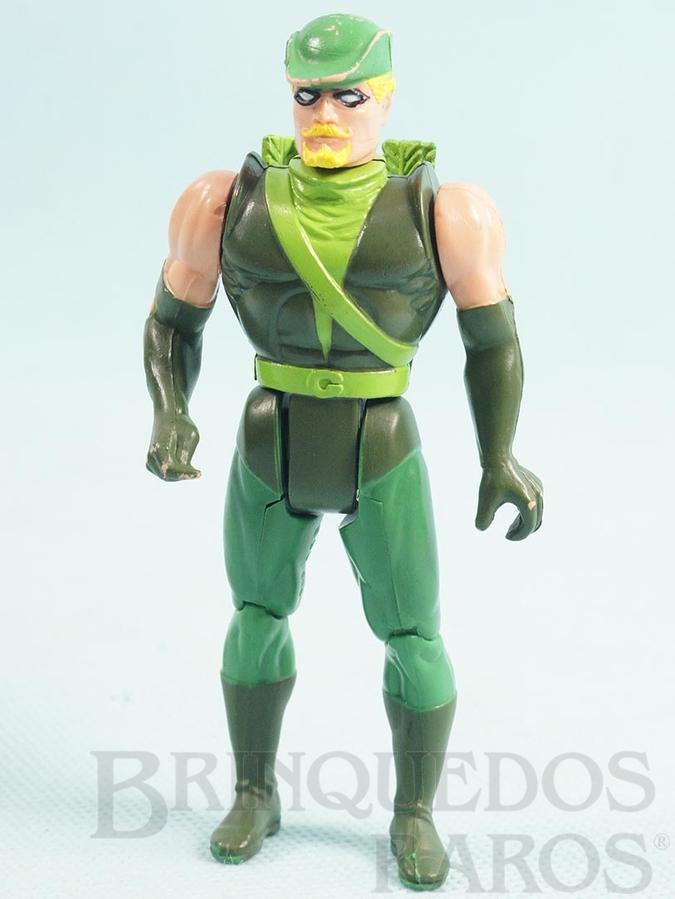 Brinquedo antigo Arqueiro Verde articulado falta o Arco Coleção Super Powers Ano 1988