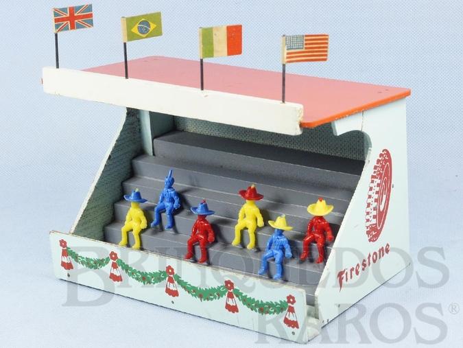Brinquedo antigo Arquibancada Ornamento para pistas de Autorama Ano 1963