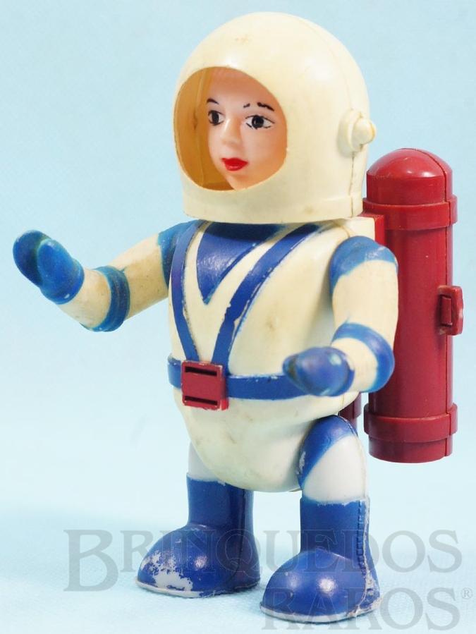Brinquedo antigo Astronauta Billy Blastoff com 12,00 cm de altura Década de 1960