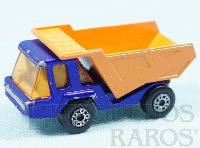Brinquedo antigo Atlas Truck Superfast azul metálico