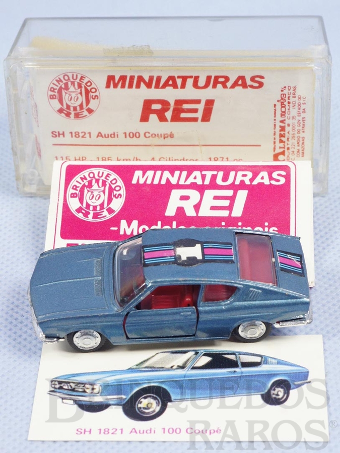 Brinquedo antigo Audi 100 Coupé Schuco Modell Brasilianische Schuco Rei completo com Catálogo e Cromo