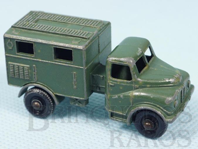 Brinquedo antigo Austin MK2 Radio Truck Black Plastic Regular Wheels