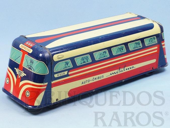 Brinquedo antigo Auto-Ônibus Metalma com 32,00 cm de comprimento Década de 1950