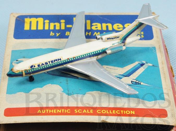 Brinquedo antigo Avião Boeing 727 Eastern com 8,00 cm de envergadura Série Mini Planes Década de 1970