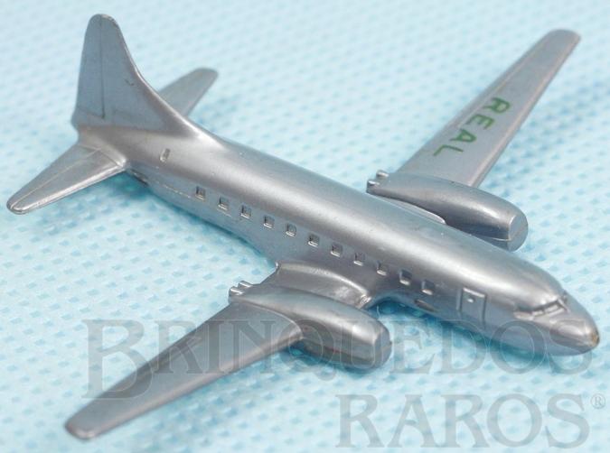 Brinquedo antigo Avião Convair Liner 340 com 6,50 cm de envergadura Inscrição Real na asa esquerda Década de 1960