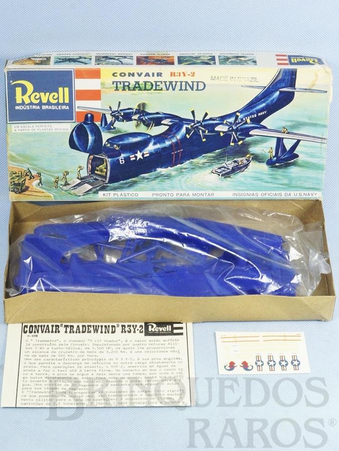 Brinquedo antigo Avião Convair R3Y-2 Tradewind completo caixa mole Década de 1970