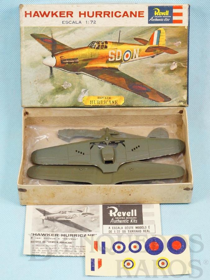 Brinquedo antigo Avião Hawker Hurricane Caixa Dura fabricação pré 1964