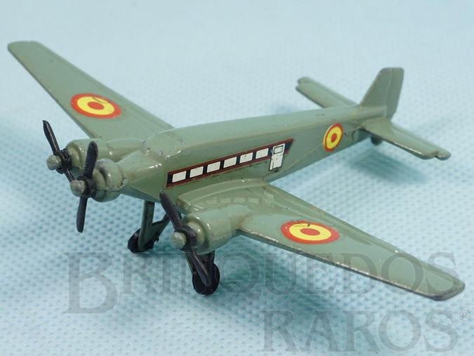 Brinquedo antigo Avião Junkers Ju52 com 11,5 cm de envergadura Força Aérea Espanhola Década de 1970