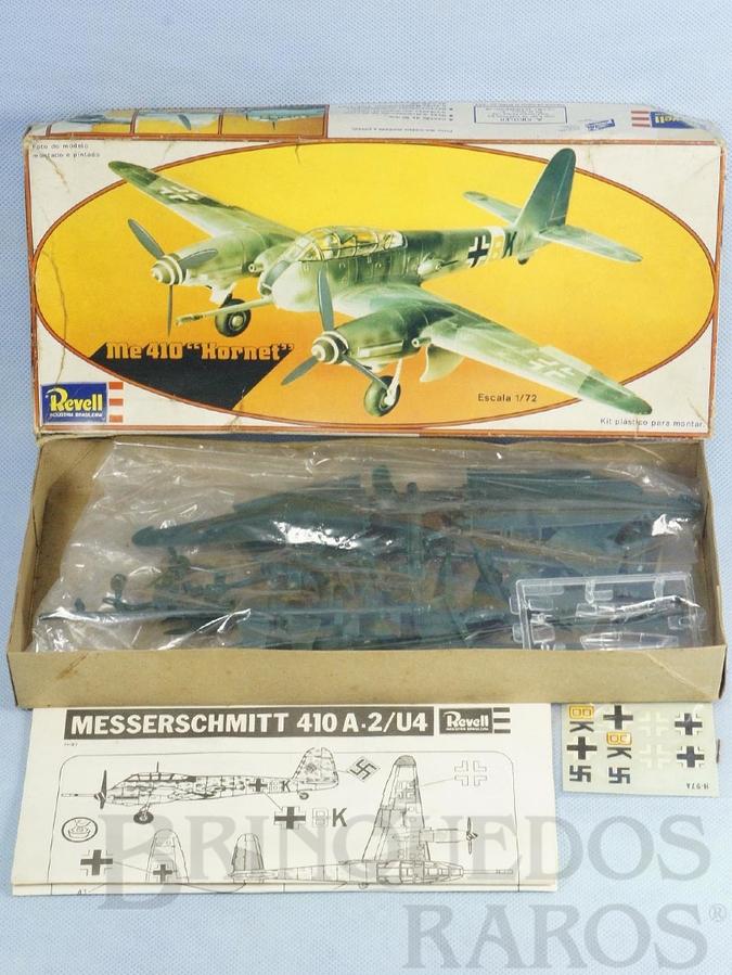 Brinquedo antigo Avião Messerschmitt Me 410 Hornet caixa mole Década de 1970