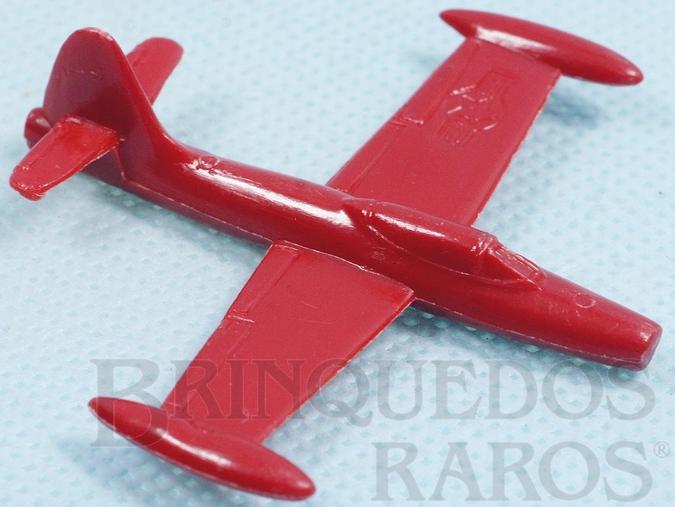 Brinquedo antigo Avião Republic F-84 Thunderjet com 6,00 cm de envergadura Brinde dos Sucrilhos Kelloggs Década de 1960