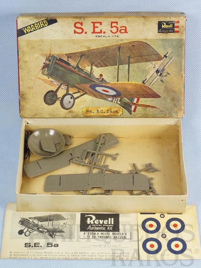 Brinquedo antigo Avião S.E. 5a Warbird caixa dura Década de 1960