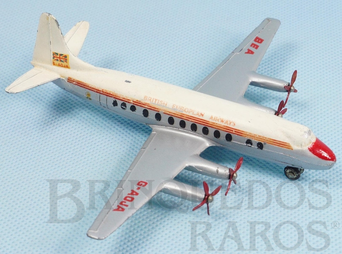 Brinquedo antigo Avião Vickers Viscount British European Airways com 15,00 cm de envergadura Ano 1957