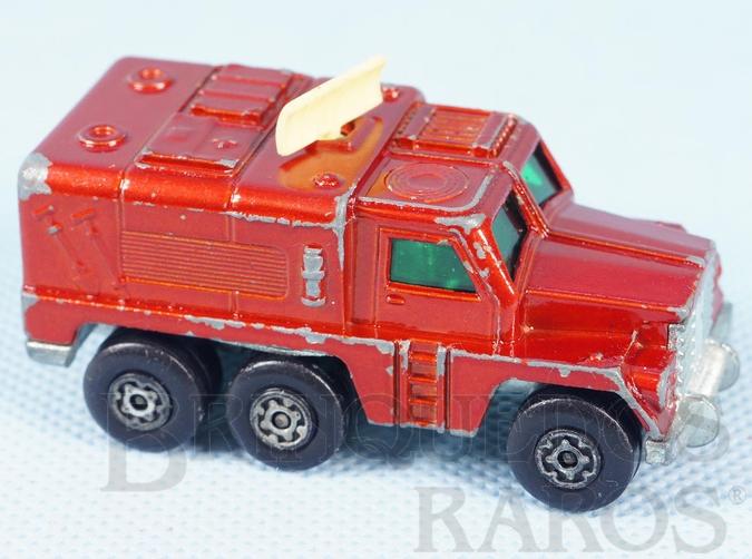 Brinquedo antigo Badger Rola-Matics vermelho metálico cream antennae