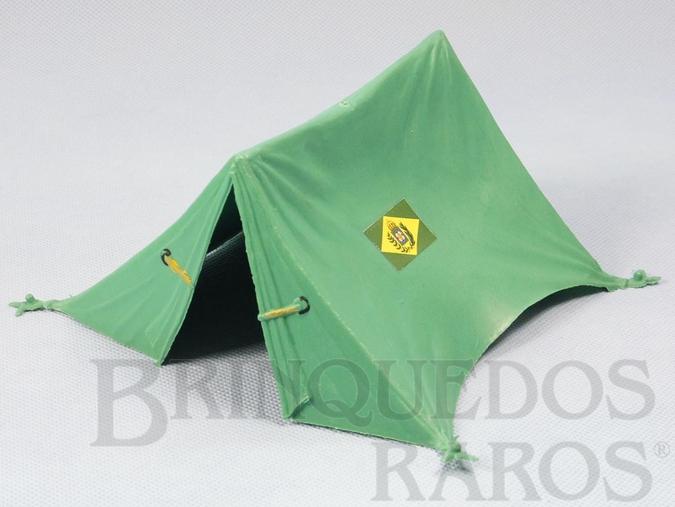 Brinquedo antigo Barraca de Campanha verde claro com 15,00 cm de comprimento Série Tropas Imperiais Década de 1970