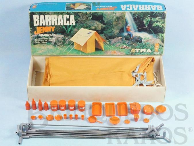 Brinquedo antigo Barraca de Camping da Boneca Jenny com 43,00 cm de comprimento Mesma escala da Boneca Susi Década de 1970