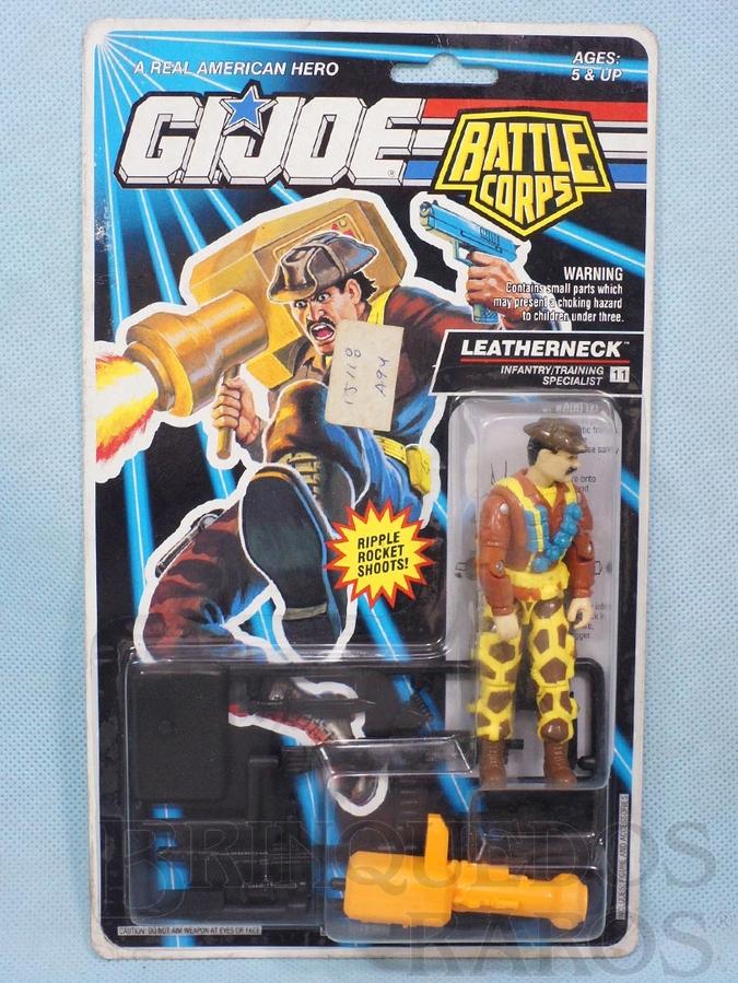 Brinquedo antigo Battle Corps Leatherneck completo Blister lacrado Ano 1992