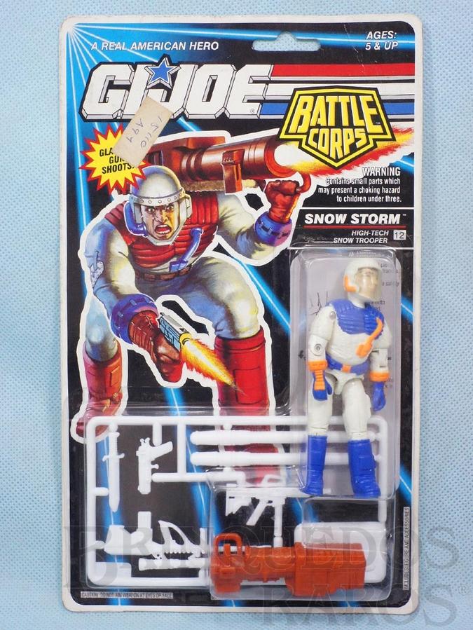 Brinquedo antigo Battle Corps Snow Storm completo Blister lacrado Ano 1992