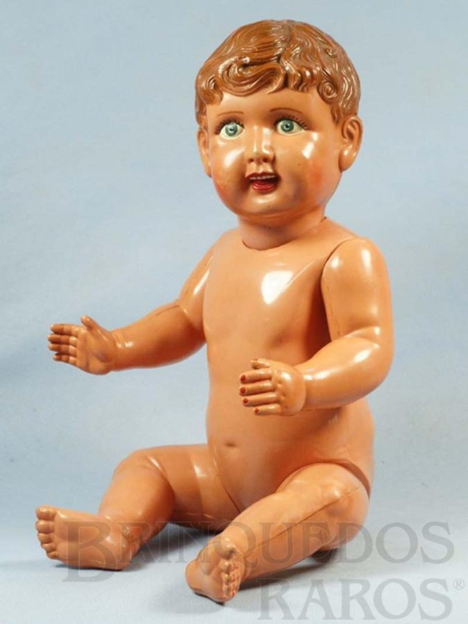 Brinquedo antigo Bebê com 41,00 cm de altura Olhos pintados Década de 1930