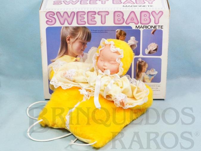 Brinquedo antigo Bebê Marionete Sweet Baby com 30,00 cm de comprimento Década de 1980