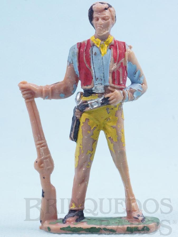 Brinquedo antigo Ben Cartwrith de pé com rifle Gulliver Série Fazenda Ponderossa