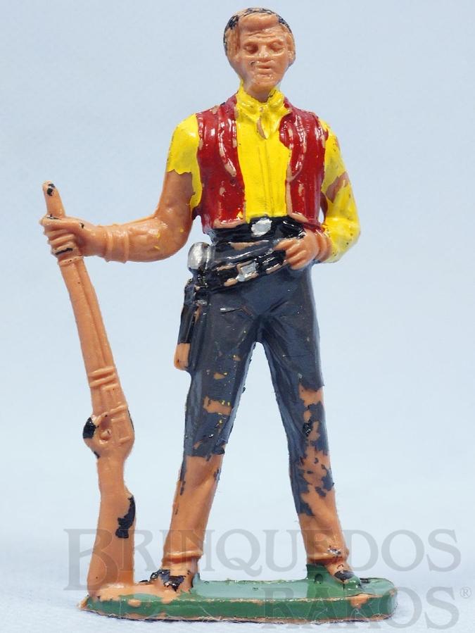 Brinquedo antigo Ben Cartwrith de pé com rifle Série Fazenda Ponderossa