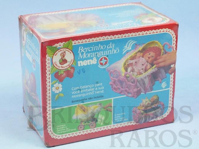 Brinquedo antigo Bercinho da Moranguinho Nenê Caixa Lacrada Década de 1980