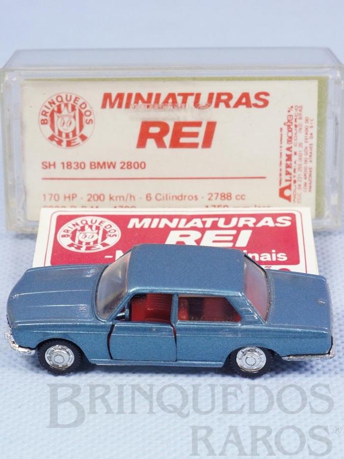 Brinquedo antigo BMW 2800 azul metálico Schuco Modell Brasilianische Schuco Rei com Catálogo