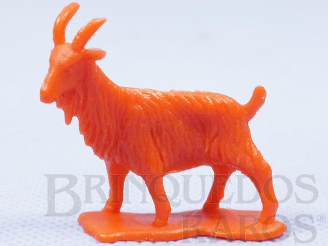Brinquedo antigo Bode de plástico laranja Série Fazendinha Década de 1970