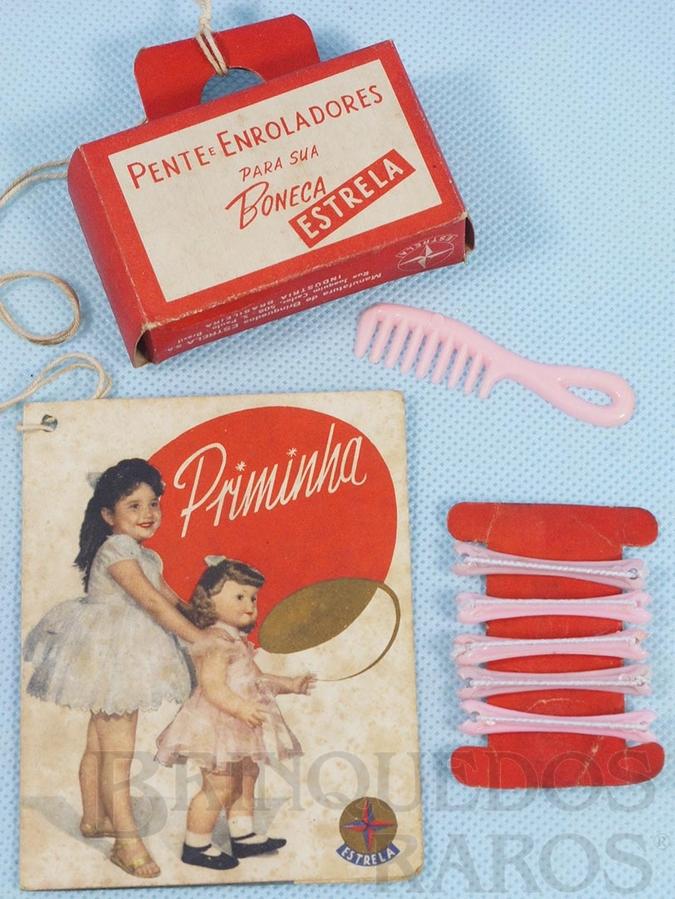 Brinquedo antigo Bolsinha de papel folheto e Acessórios da Boneca Priminha Ano 1961