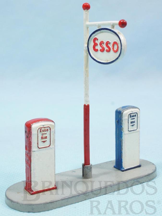 Brinquedo antigo Bombas de Gasolina Esso Gas Pumps 9,00 cm de comprimento Ano 1959