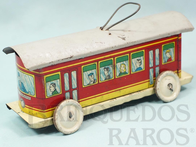 Brinquedo antigo Bonde Elétrico Vila Mariana com 18,00 cm de comprimento Ano 1937