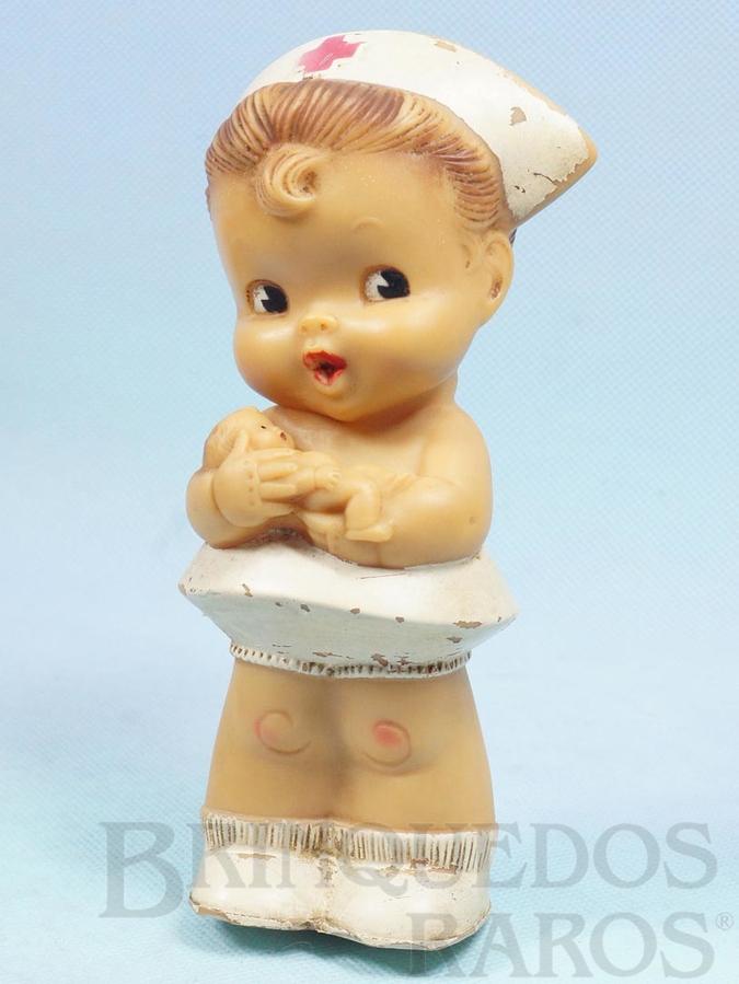 Brinquedo antigo Boneca A Pequena Enfermeira com 17,00 cm de altura  Ano 1960