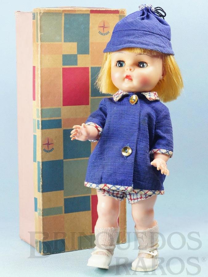 Brinquedo antigo Boneca Belinha com 35,00 cm de altura Completa 100% original Perfeito estado Cabeça de Vinil Olhos de dormir Dispositivo de choro Ano 1966