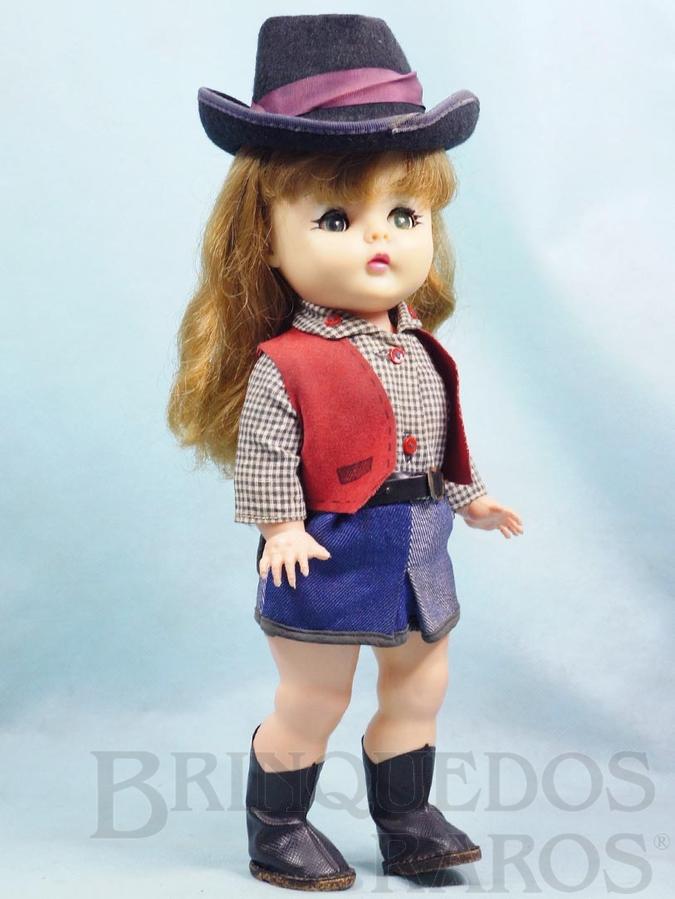 Brinquedo antigo Boneca Belinha Wandeka completa com 35,00 cm de altura Wanderléa Jovem Guarda primeira série com dispositivo de choro Ano 1967
