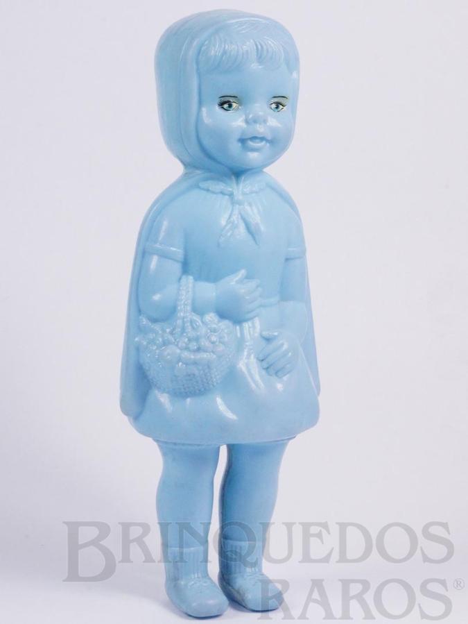 Brinquedo antigo Boneca Chapeuzinho Vermelho com 21,00 cm de altura Década de 1960