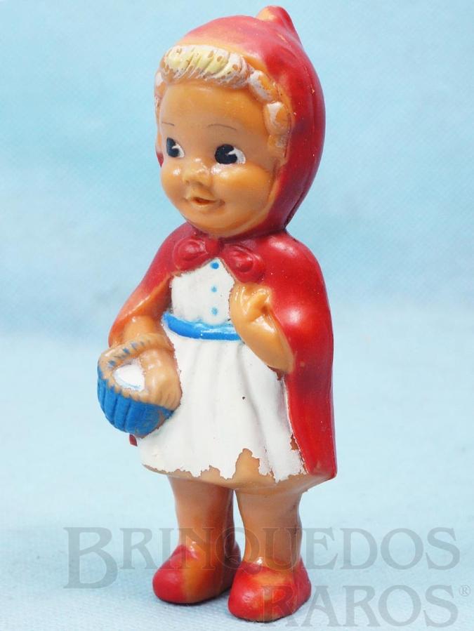 Brinquedo antigo Boneca Chapeuzinho Vermelho com Apito 12,00 cm de altura Ano 1957