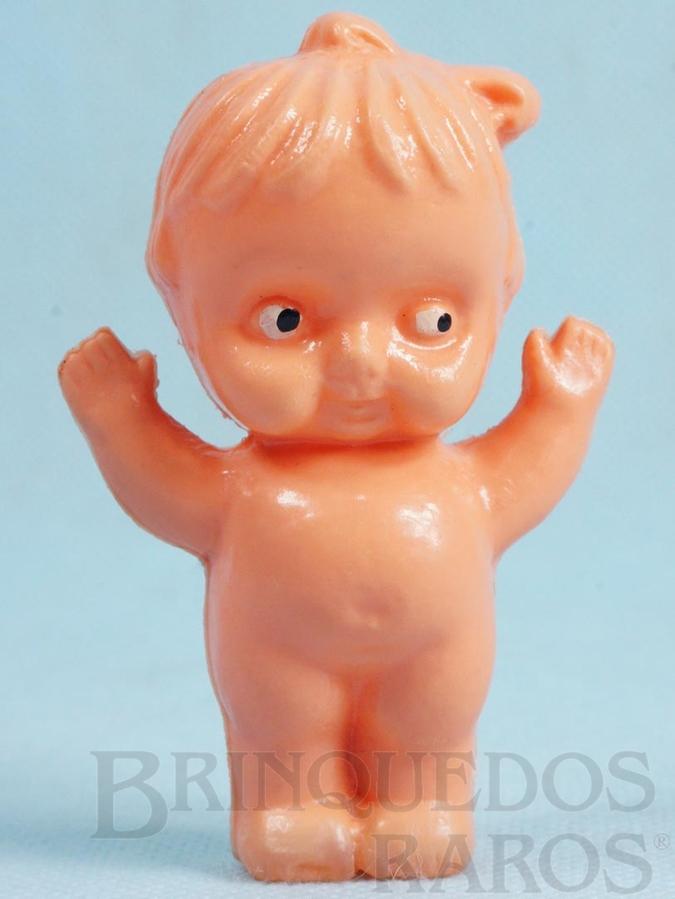 Brinquedo antigo Boneca com 8,00 cm de altura Olhos pintados Década de 1960