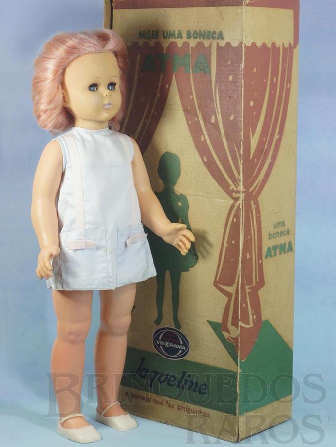 Brinquedo antigo Boneca Jaqueline a Boneca que faz Amiguinhas com 70 cm de altura Olhos de dormir e de acompanhar Sistema Visorama Década de 1960