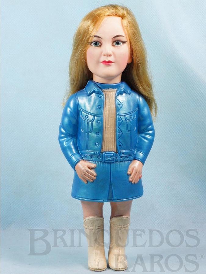 Brinquedo antigo Boneca Jovem Guarda Wandeka com 33,00 cm de altura Wanderléa Década de 1960 Fora de Catálogo