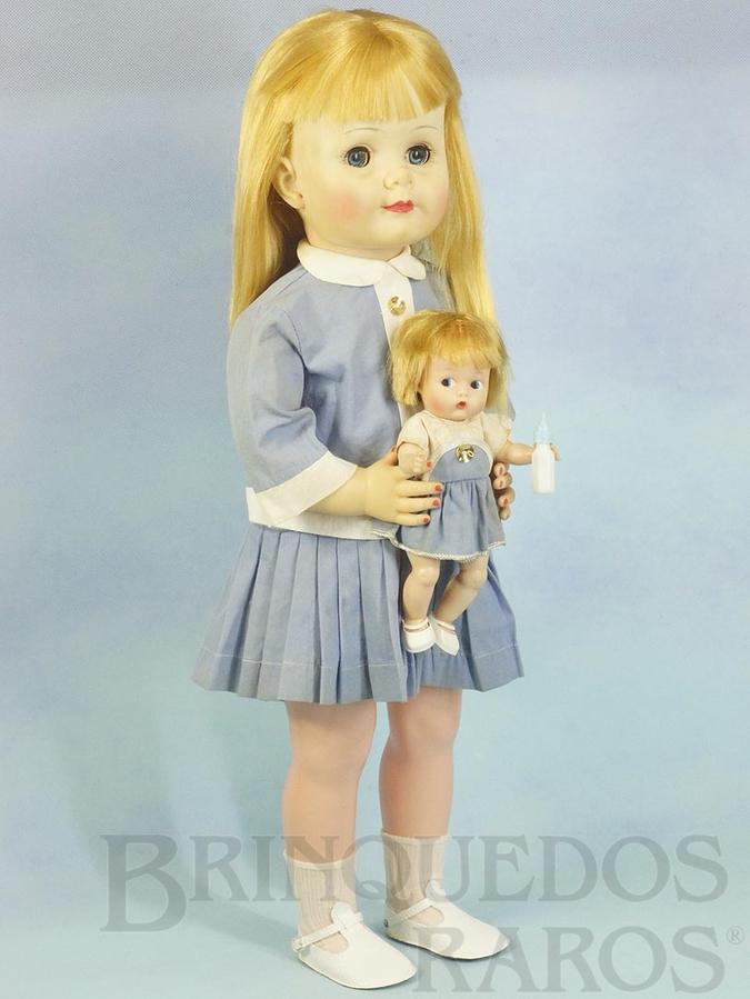 Brinquedo antigo Boneca Linda e sua Bonequinha com 64 cm de altura Completa e 100% original Cabelos de Nylon e Olhos de dormir Ano 1966