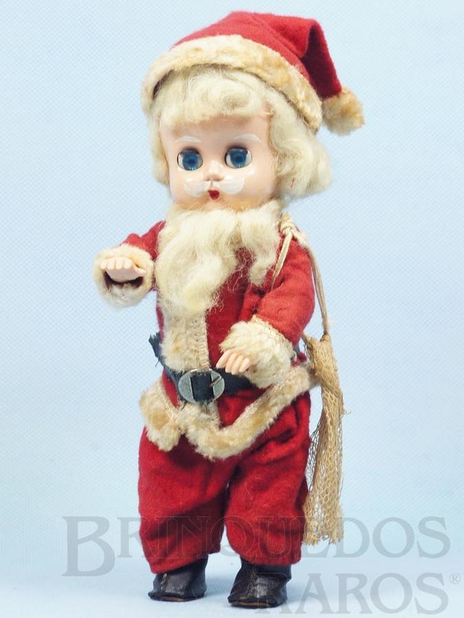 Brinquedo antigo Boneca Papai Noel com 21,00 cm de altura Brinde da Cesta de Natal Amaral Década de 1960