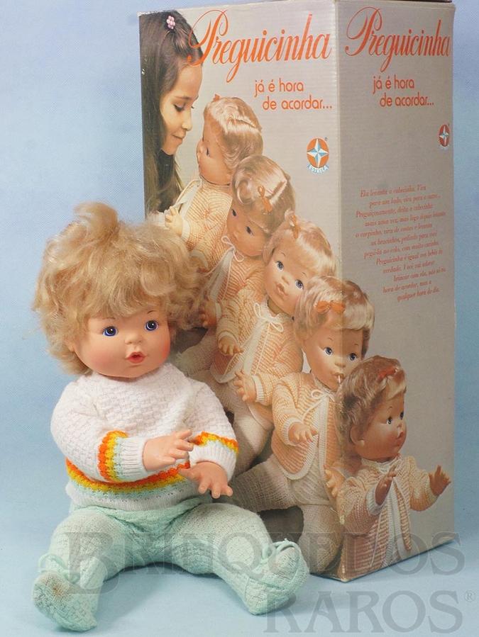 Brinquedo antigo Boneca Preguicinha com 45,00 cm de altura 100% original Perfeito estado Cabeça de Vinil corpo de plástico rígido Cabelos de Nylon e Olhos pintados Ano 1979