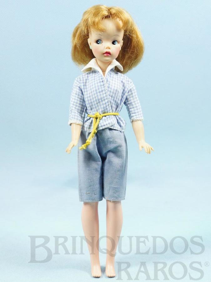 Brinquedo antigo Boneca Susi 100% original Olhos Pintados Perfeito estado Primeira Série Roupa azul Faltam os sapatos e a Raquete de Tênis Ano 1966