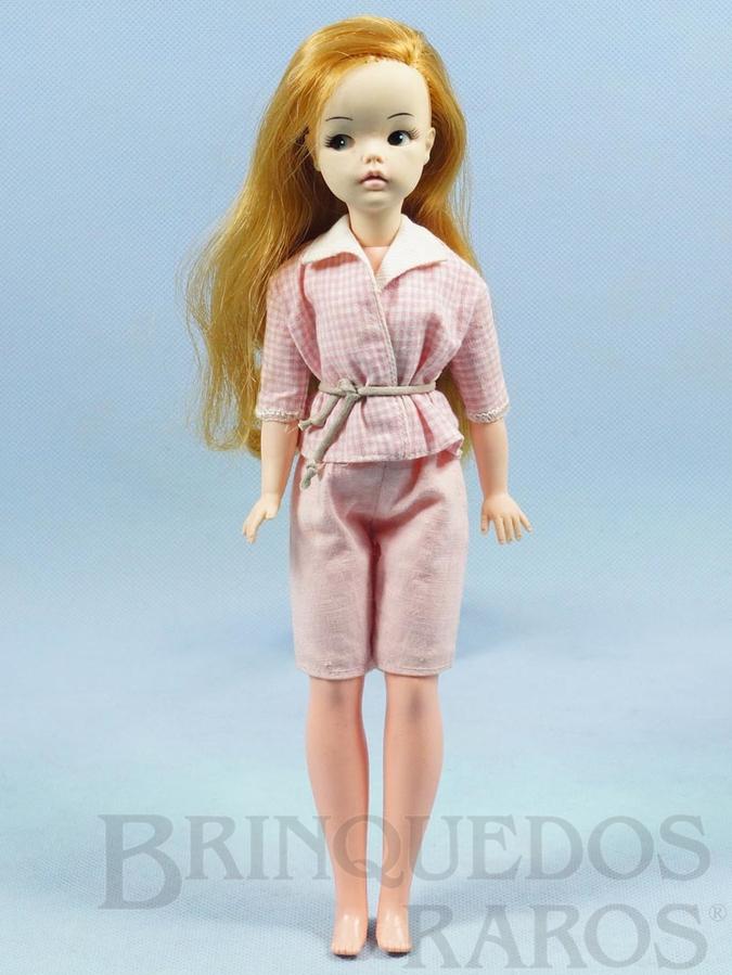 Brinquedo antigo Boneca Susi 100% original Olhos Pintados Perfeito estado Primeira Série Roupa cor de rosa Faltam os sapatos e a Raquete de Tênis Ano 1966