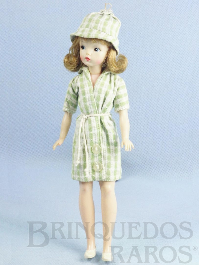 Brinquedo antigo Boneca Susi 100% original Olhos Pintados Perfeito estado Completa Primeira Série vestido verde Ano 1966