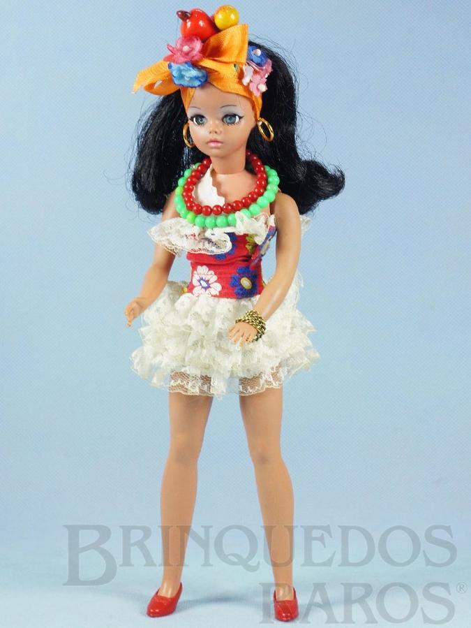 Brinquedo antigo Boneca Susi Baiana Série Susi faz Pose Cintura móvel 100% original Perfeito estado Completa Ano 1971