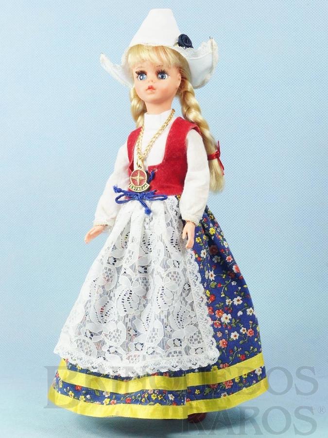 Brinquedo antigo Boneca Susi Holandesa Série Pulsos móveis 100% original Perfeito estado Completa Ano 1979