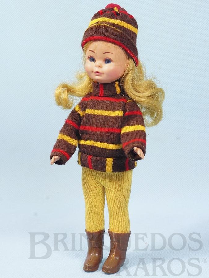 Brinquedo antigo Boneca Valentina com 20,00 cm de altura completa e 100% original Ano 1974